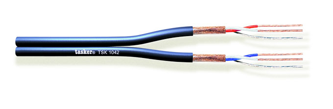 Flat balanced microphone cable 2x2x0,22