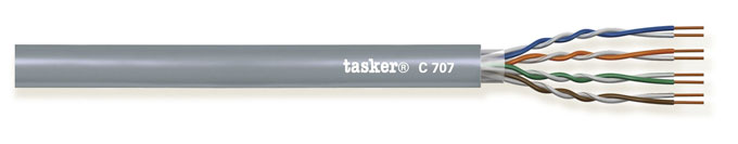 LAN cable 5e U.T.P. 4x2x0,22 mm²