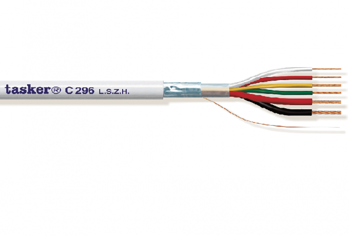 Security cable 1x75 Ohm in L.S.Z.H.